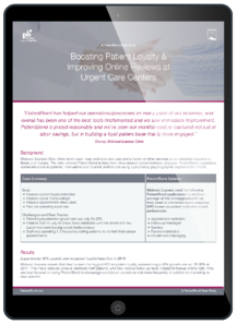 Patient Loyalty Case Study Tablet